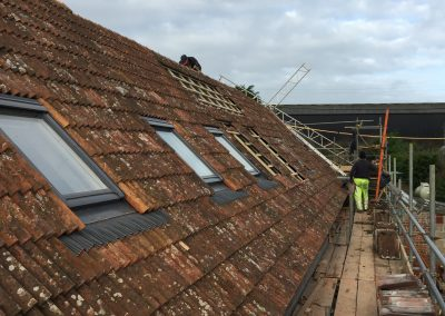 Roof nearly complete